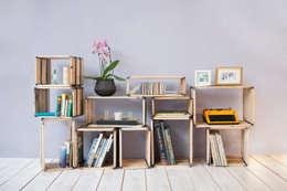 moveo. // Das weitgereiste Regalsystem: moderne Wohnzimmer von reditum  //  Möbel mit Vorleben