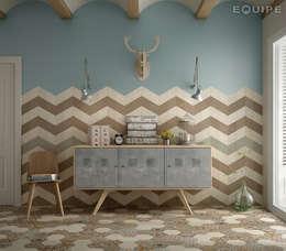 Paredes y pisos de estilo ecléctico por Equipe Ceramicas