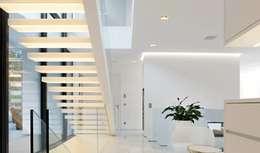 modern Corridor, hallway & stairs by monovolume architecture + design