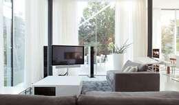 moderne Woonkamer door monovolume architecture + design