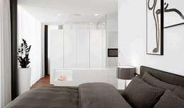 Casa M: Camera da letto in stile in stile Moderno di monovolume architecture + design