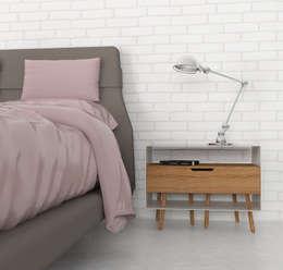 Agata comodino: Camera da letto in stile in stile Eclettico di Officina41 Design Group