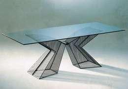 VIRAGE: Sala da pranzo in stile in stile Eclettico di carlo tosin