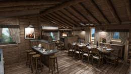 Salle à manger de style de style Rustique par studiosagitair