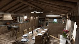 rustic Dining room by studiosagitair