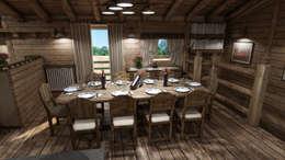 Salas de jantar rústicas por studiosagitair
