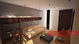 Спальни в . Автор – Arquitectura Libre