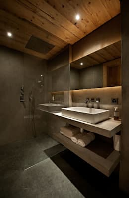 rustic Bathroom by Ardesia Design