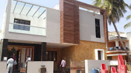 North elevation with Stone and Fundermax cladding: modern Houses by Hasta architects