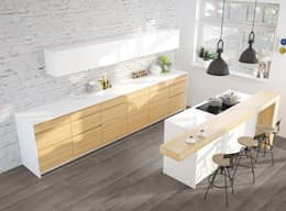 Paredes y pisos de estilo ecléctico por Mosaicnet srl