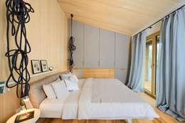 moderne Slaapkamer door Bau-Fritz GmbH & Co. KG