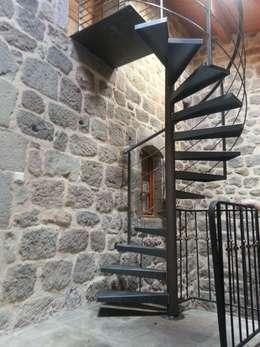 Vestíbulos, pasillos y escaleras de estilo  de LBMS. Fabrice Lamouille