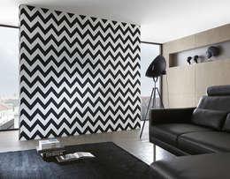 Paredes y pisos de estilo moderno por Disbar Papeles Pintados