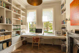 eclectic Study/office by Morgan Harris Architects Ltd