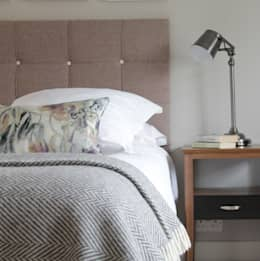 The Hepworth Luxury Designer Upholstered Bed: eclectic Bedroom by TurnPost