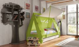 KIDS TENT BEDROOM CABIN BED in Green: modern Nursery/kid's room by Cuckooland