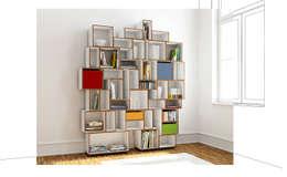 stocubo - Das modulare Regalsystem: modern tarz Oturma Odası