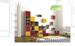 modern Nursery/kid's room by stocubo - Das modulare Regalsystem