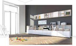 stocubo - Das modulare Regalsystem: modern tarz Yemek Odası