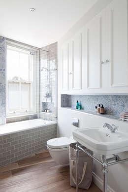 rustic Bathroom by Ardesia Design