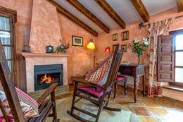 rustic Living room by Espacios y Luz Fotografía