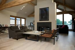 rustic Living room by Yorkshire Design Associates