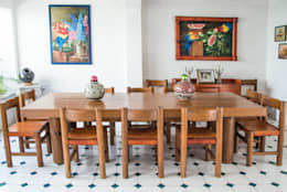 eclectic Dining room by Mikkael Kreis Architects