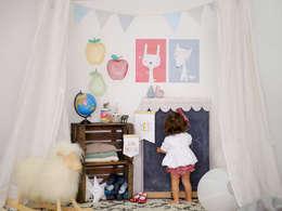Menudos Cuadros: modern tarz Çocuk Odası