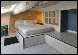 Bureau mezzanine: Chambre de style de style Moderne par C'Design