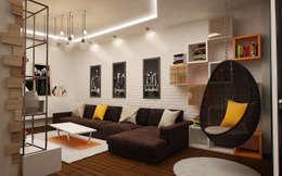 industrial Living room by studio forma