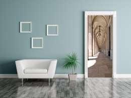 Puertas y ventanas de estilo mediterraneo por Dunkelau Service