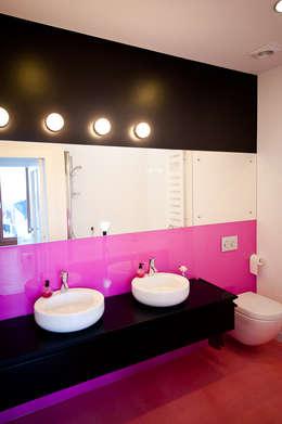 Apartament na Chodkiewicza: styl , w kategorii Łazienka zaprojektowany przez MATELIER