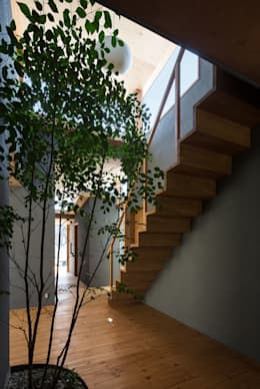 Jardines de estilo moderno por 建築設計事務所SAI工房