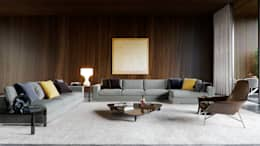 Minotti space: modern Living room by Architectural Visualization