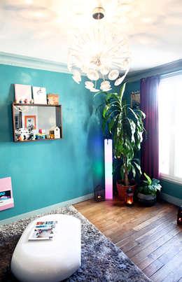 Coin vert: Salon de style de style eclectique par Sandra Dages