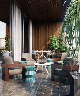 moderne Woonkamer door Architectural Visualization