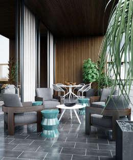 Architectural Visualization: modern tarz Oturma Odası