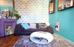 Projekty,  Salon zaprojektowane przez Sandra Dages