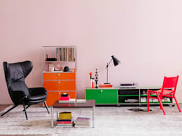 eclectic Living room تنفيذ USM Möbelbausysteme