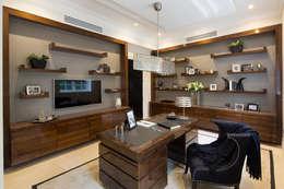 modern Study/office by Celia Sawyer Luxury Interiors
