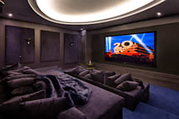 modern Media room by Celia Sawyer Luxury Interiors