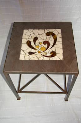 Mobilier: Salon de style de style eclectique par CREDEMO (CREation DEcoration MOsaique