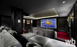 Basement Cinema: eclectic Media room by Wilkinson Beven Design