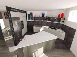 Cucina °Shark tooth° ...dente di squalo: Cucina in stile in stile Moderno di Inarte Progetti di Lucio Mana