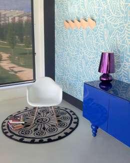 Salon de style de style Scandinave par Moises Showroom