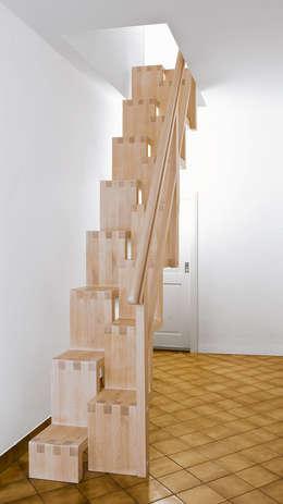 Projekty,  Korytarz, hol i schody zaprojektowane przez Daniel Beutler Treppenbau