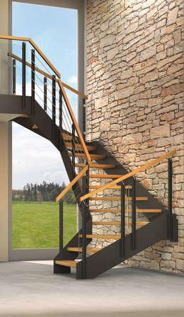 industrial Corridor, hallway & stairs by Treppenmeister Bickelmann GmbH