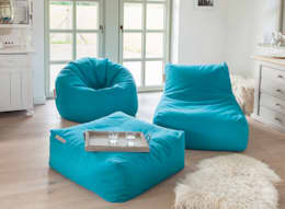 Pushbag 4 Living - Chair, Easy und BAG500 in Soft petrol: moderne Wohnzimmer von Global Bedding GmbH & Co.KG