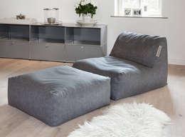 moderne Woonkamer door Global Bedding GmbH & Co.KG