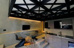 tre+tre cased'amare: Paesaggio d'interni in stile  di Walter Emanuele Angelico, architetto